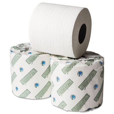 Boardwalk Green Plus Bathroom Tissue, White, 1 Ply, 500 Sheets,