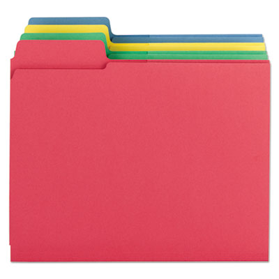 3-in-1 SuperTab Section Folders, 1/3 Cut Top Tab, Letter, Assorted, 12/Pack<br />91-SMD-11905