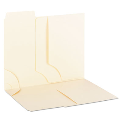 3-in-1 SuperTab Section Folders, 1/3 Cut Top Tab, Letter, Manila, 12/Pack<br />91-SMD-11904