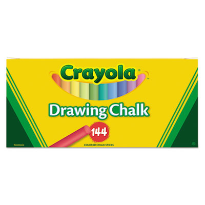 Colored Drawing Chalk, Six Each of 24 Assorted Colors, 144 Stick