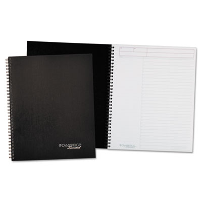 Action-Planner Wirebound Business Notebook, 8 7/8 x 11, Black, 8