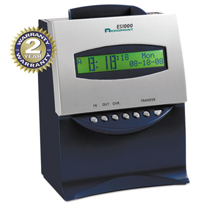 ES1000 Totalizing Digital Automatic Payroll Recorder/Time Clock,
