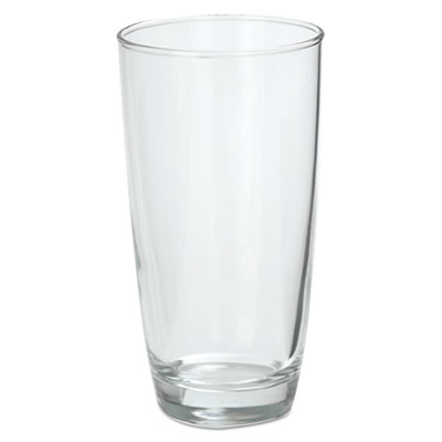Marbel Beverage Glasses, 16oz, Clear, 6/Box