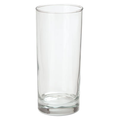 Riviera Beverage Glasses, 16oz, Clear, 6/Box