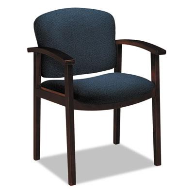 2111 Invitation Reception Series Wood Guest Chair, Mahogany/Soli