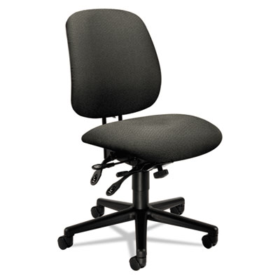7700 Series Asynchronous Swivel/Tilt Task Chair, Seat Glide, Gra