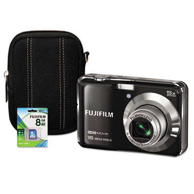FinePix AX660 Digital Camera Bundle, 5x Optical Zoom, 16MP