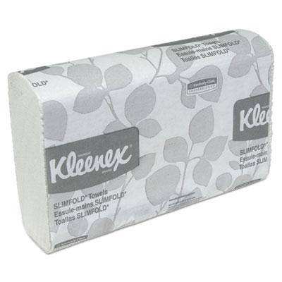 KLEENEX SLIMFOLD Hand Towels, White, 90/Pack, 24 Packs/Carton