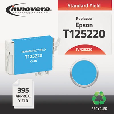 25220 Compatible Reman T125220 (T-125) Ink, 395 Page-Yield, Cyan
