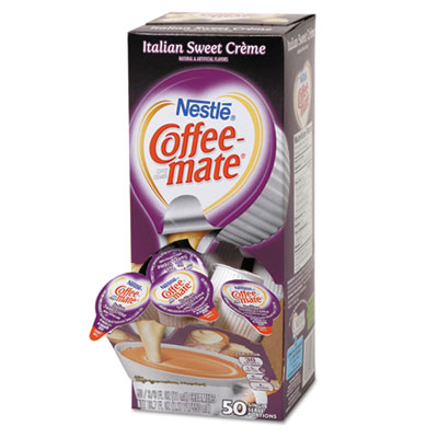 Liquid Coffee Creamer, Italian Sweet Creme, 0.375 oz Cups, 50/Bo