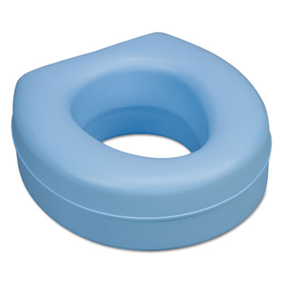"Deluxe Plastic Toilet Seat Cushion, 5"", Blue"