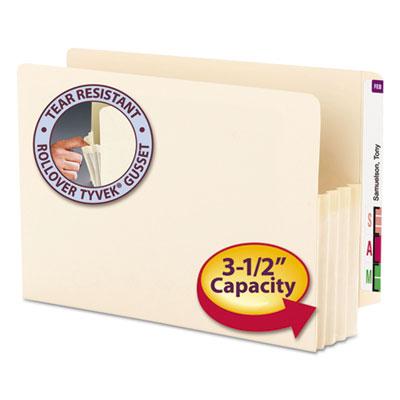 """3 1/2"""" Exp End Tab File Pocket, Straight Tab, Legal, Manila, 25/Bx<br />91-SMD-76124"""