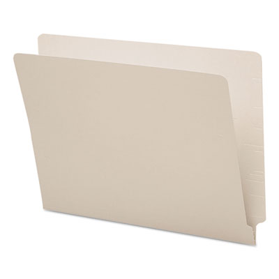 Colored File Folders, Straight Cut, Reinforced End Tab, Letter, Gray, 100/Box<br />91-SMD-25310