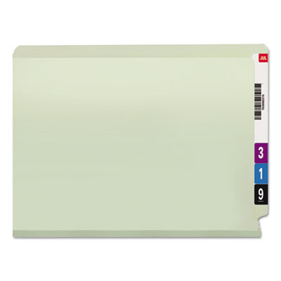 One Inch Expansion Folder, Two Fasteners, End Tab, Letter, Gray Green, 25/Box