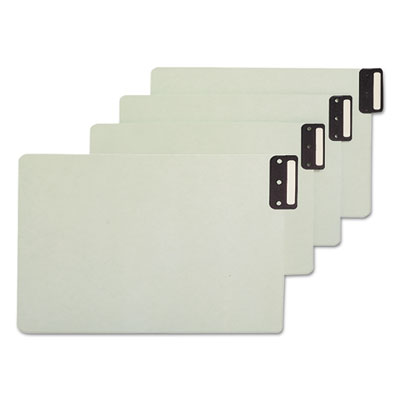 End Tab Guides, Blank, Vertical Metal Tabs, Pressboard, Legal, 5