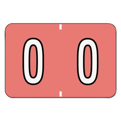 Barkley-Compatible Labels, Letter O, 1 x 1-1/2, Pink/White Bar,