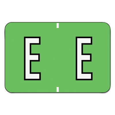Barkley-Compatible Labels, Letter E, 1 x 1-1/2, Green, 500/Roll