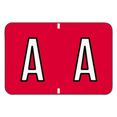 Barkley-Compatible Labels, Letter A, 1 x 1-1/2, Red, 500/Roll