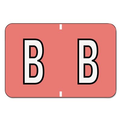 Barkley-Compatible Labels, Letter B, 1 x 1-1/2, Pink, 500/Roll