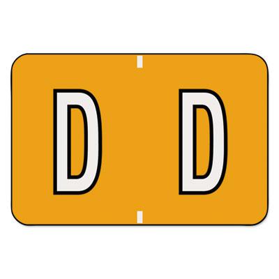 Barkley-Compatible Labels, Letter D, 1 x 1-1/2, Dark Orange, 500