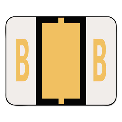 A-Z Color-Coded Bar-Style End Tab Labels, Letter B, Light Orange
