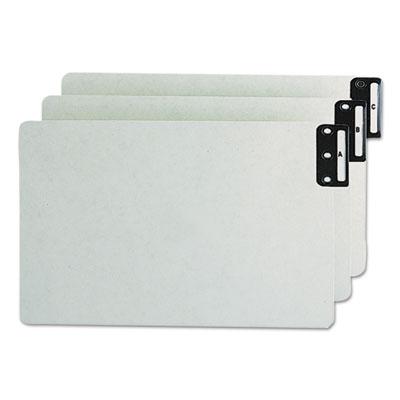 End Tab Guides, Alpha, Vertical Metal Tabs, Pressboard, Legal, 2