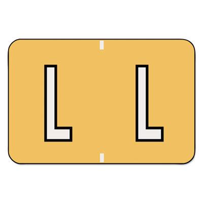 Barkley-Compatible Labels, Letter L, 1 x 1-1/2, Lt Orange, 500/R
