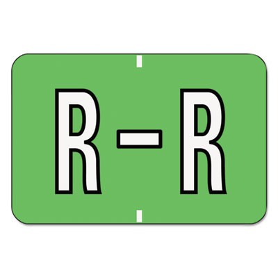 Barkley-Compatible Labels, Letter R, 1 x 1-1/2, Green/White Bar,