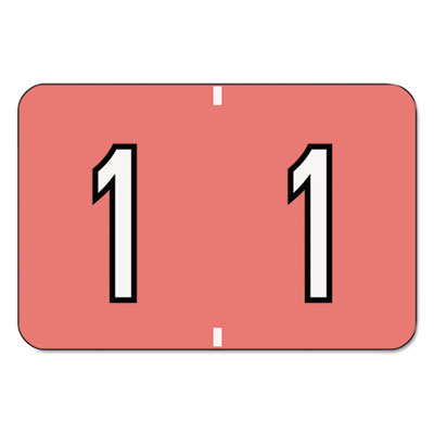 Barkley-Compatible Labels, Number 1, 1 x 1-1/2, Pink, 500/Roll