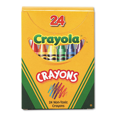 Classic Color Pack Crayons, Tuck Box, 24/Box