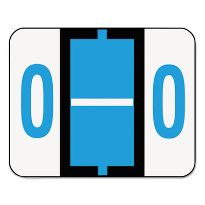A-Z Color-Coded Bar-Style End Tab Labels, letter O, Blue, 500/Ro