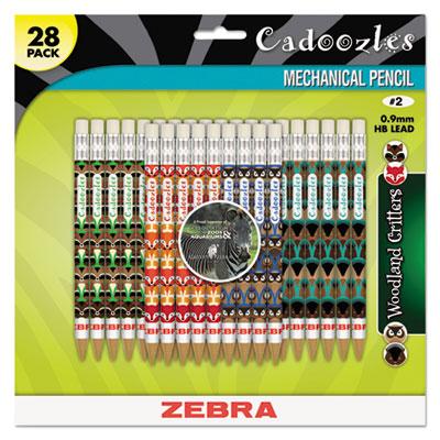 Cadoozles Mechanical Pencil, Refillable, #2, Assorted Barrels, 0