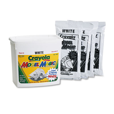 Model Magic Modeling Compound, 8 oz each packet, White, 2 lbs