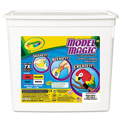 Model Magic Modeling Compound, 8 oz each Blue/Red/White/Yellow,