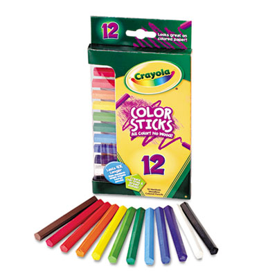 Woodless Color Pencils, Assorted, 12/Pack