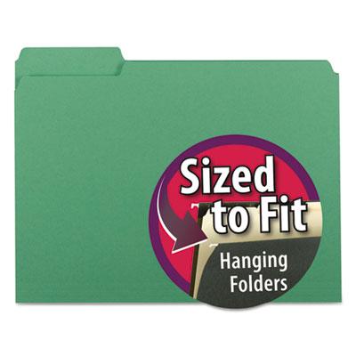 Interior File Folders, 1/3 Cut Top Tab, Letter, Green, 100/Box<br />91-SMD-10247