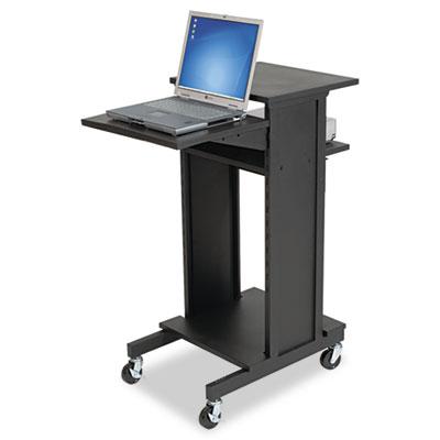 Presentation Cart, Three-Shelf, 21-1/2w x 30d x 40-1/2h, Black