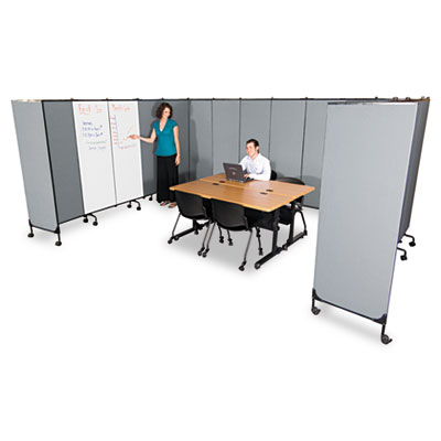 GreatDivide Wall System Fabric Add-On Panel, 64w x 3d x 72h, Gra