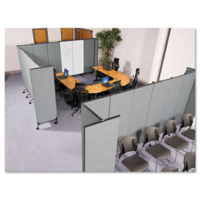 GreatDivide Wall System Fabric Add-On Panel, 64w x 3d x 96h, Gra