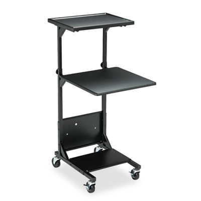 Adjustable Height Projection Stand, Three-Shelf, 18w x 20d x 42h