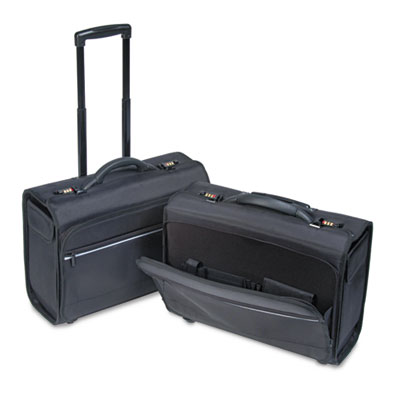 Computer/Catalog Case, Nylon, 19-3/4 x 9 x 14-1/2, Black