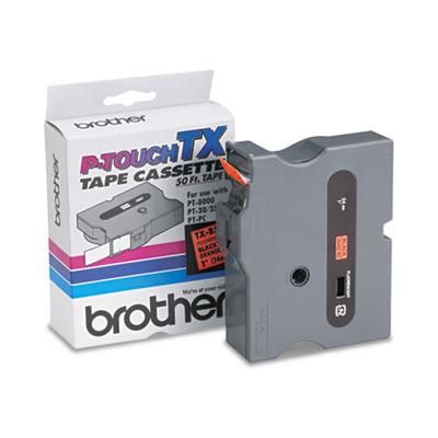 TX Tape Cartridge for PT-8000, PT-PC, PT-30/35, 1w, Black on Flu