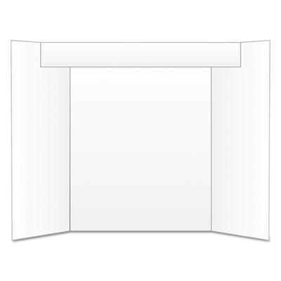 Too Cool Tri-Fold Poster Board, 24 x 36, White/White<br />91-GEO-27367