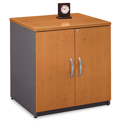 "30""W Storage Cabinet Series C, Natural Cherry/Graphite Gray"