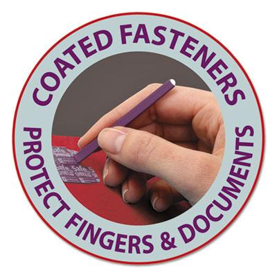 Colored Pressboard Fastener Folders, Letter, 1/3 Cut, Bright Red, 25/Box