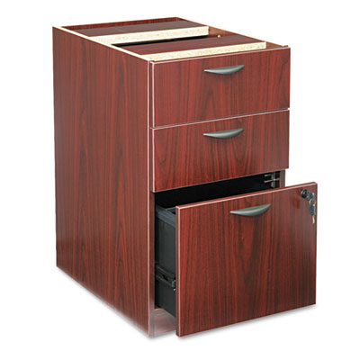BL Laminate Three-Drawer Pedestal File, 15-5/8w x 21-3/4d x 27-3