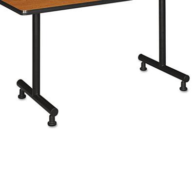 T-Leg Training Table Base, 26w x 28-3/8h, Matte Black, 1 Pair