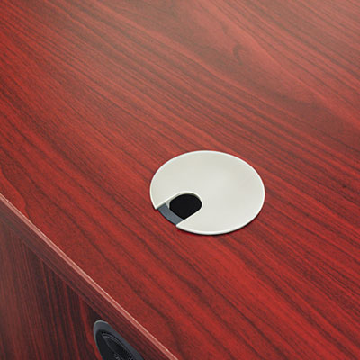 Optional Grommet For Worksurfaces, Brushed Nickel Finish