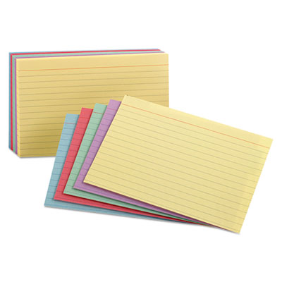 Universal Index Cards 100//Pack 47256 Blue//Salmon//Green//Cherry//Canary 5 x 8