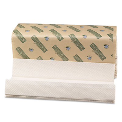 Boardwalk Green C-Fold Towels, Natural White, 10 1/8x13, 200/Pac